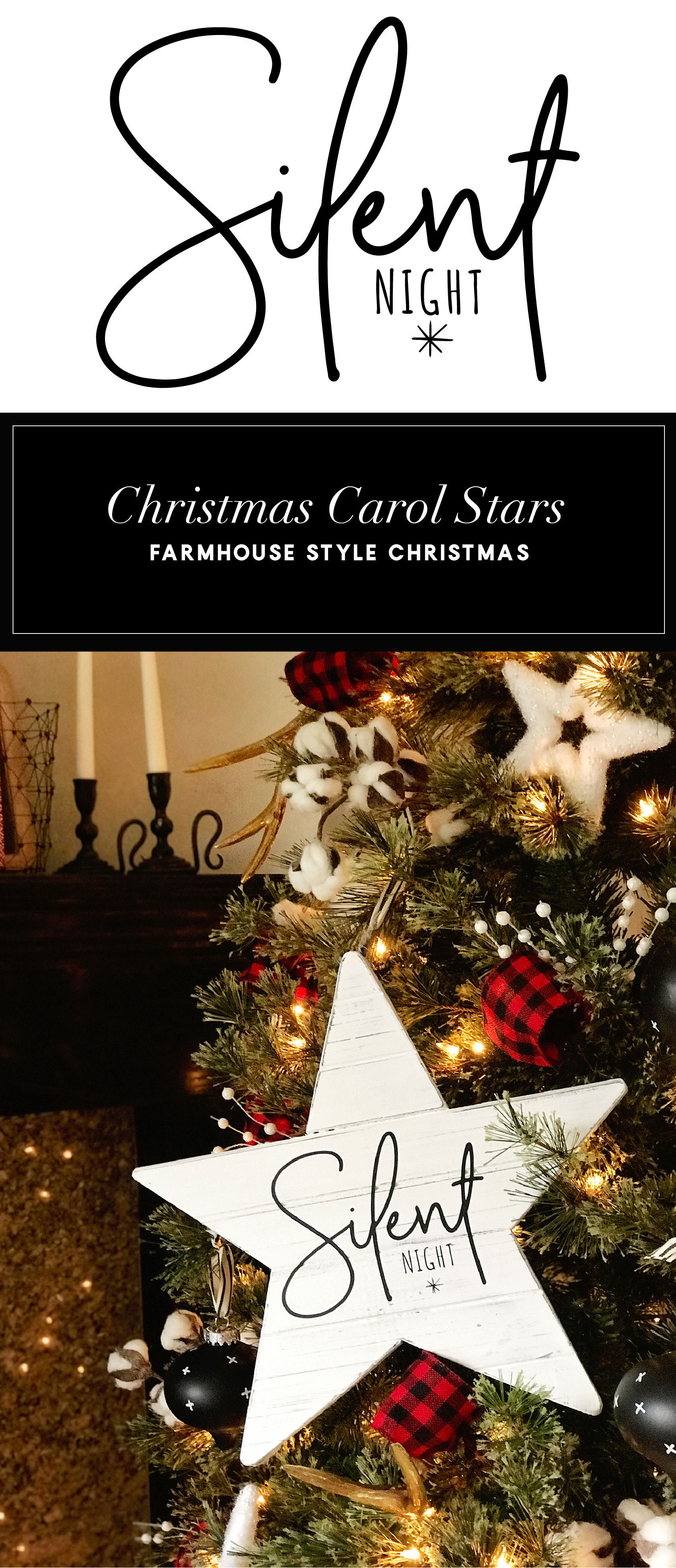 Create your own farmhouse Christmas decorations with a little help from WhipperBerry - Christmas Carol Stars