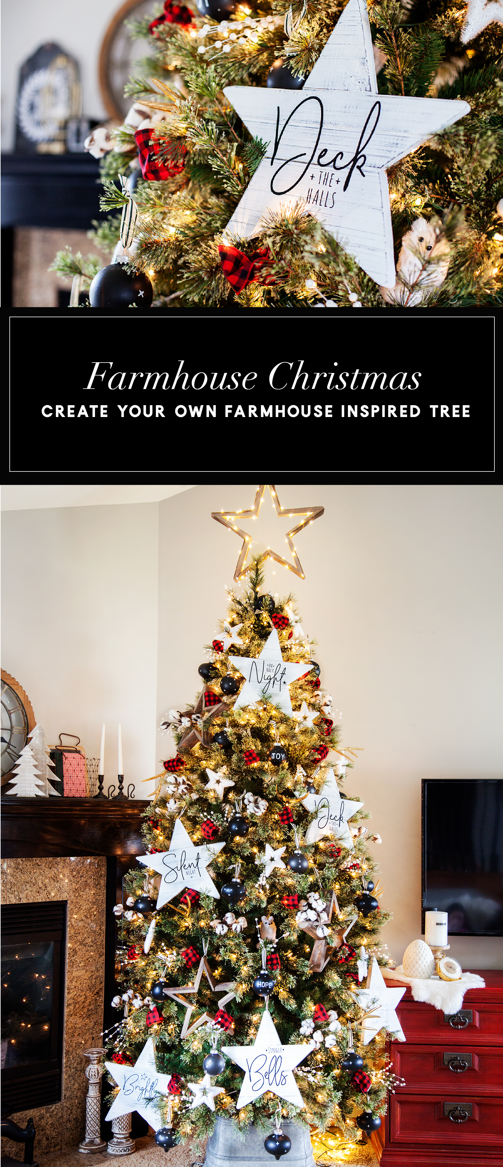 Farmhouse Inspired Christmas Tree -WhipperBerry-100