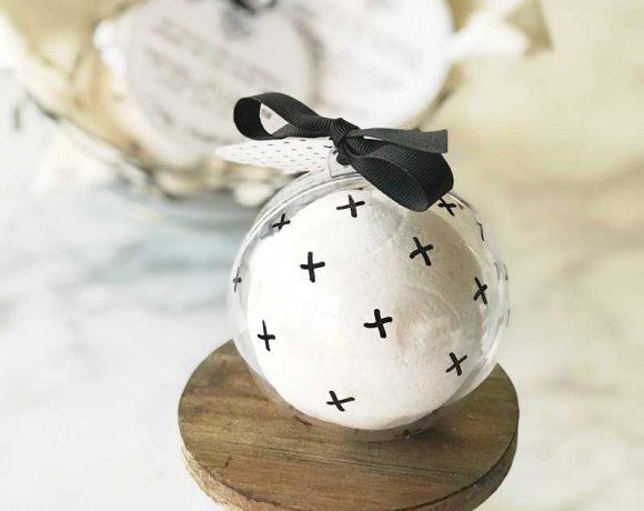 Homemade Snowball Bath Bomb