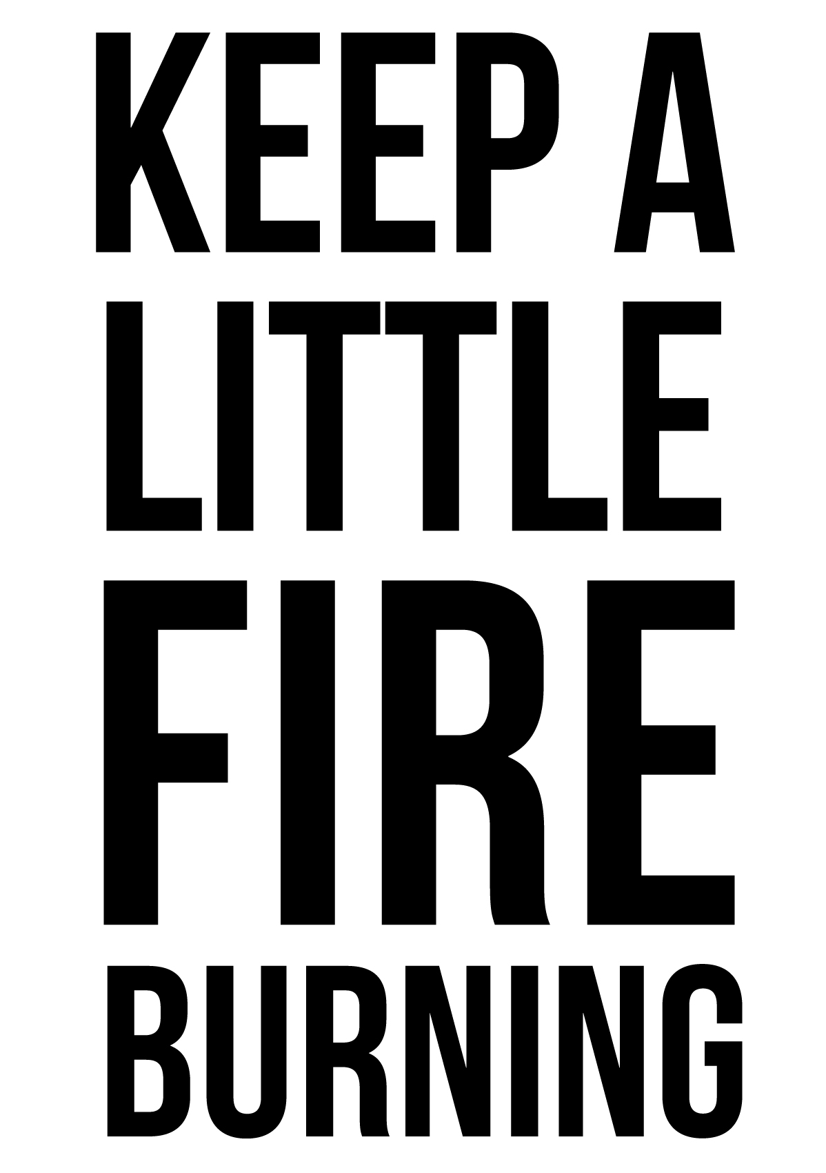 keep a little fire burning match jar-100