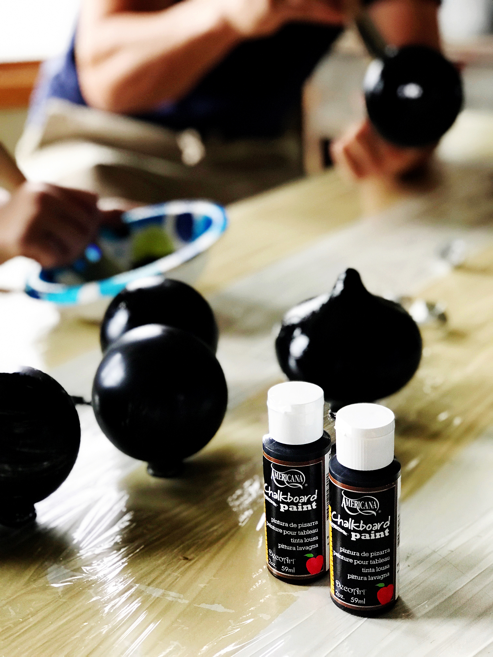 Americana Chalkboard Paint for Christmas Ornaments