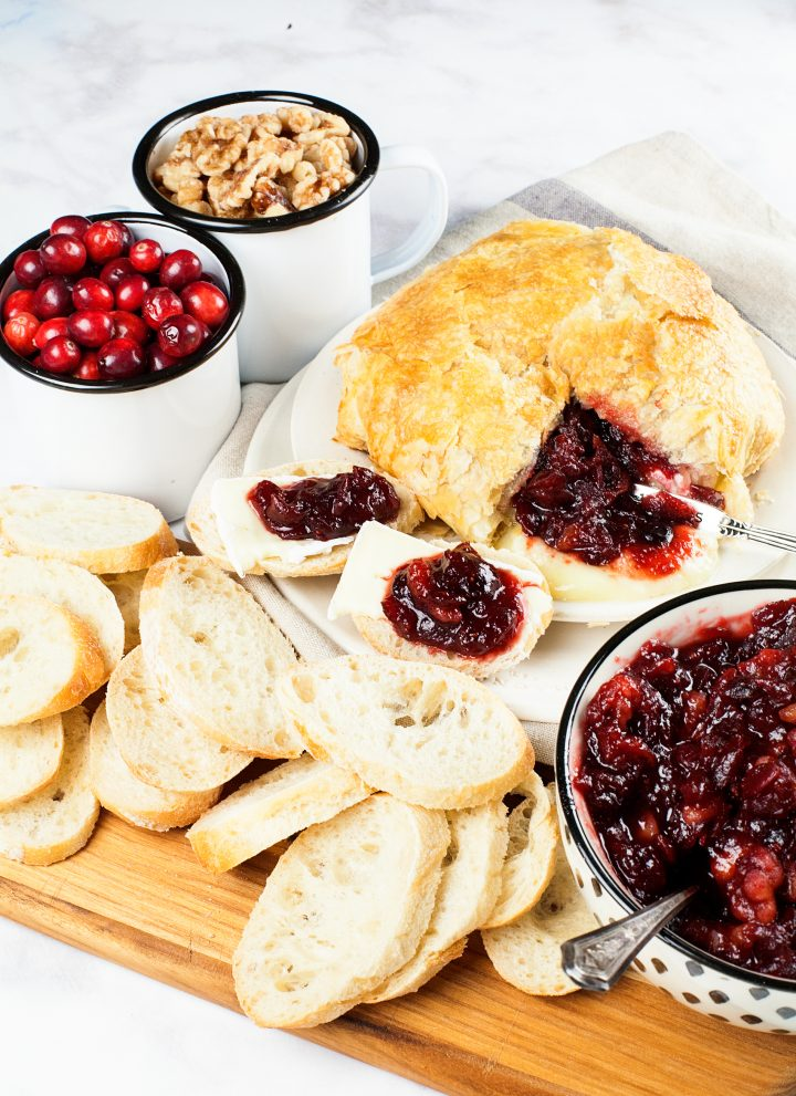 Diet Coke® Cranberry Walnut Chutney with Brie in Puff Pastry Recipe