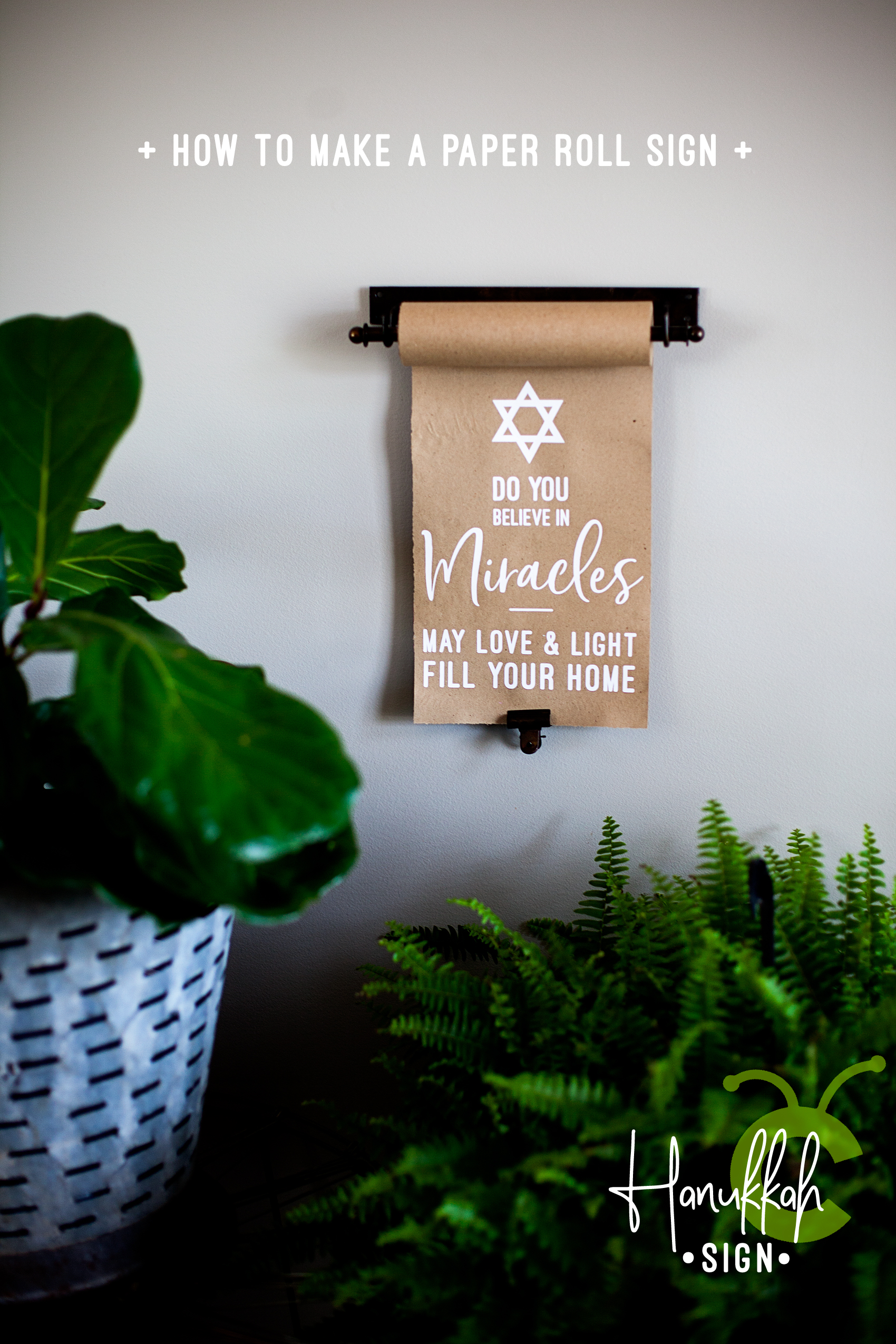 Create this meaningful sign for Hanukkah this year using a vintage style paper roll and your Cricut Maker or Explore Air machine and the @cricut Easy Press • Video Tutorial created by WhipperBerry
