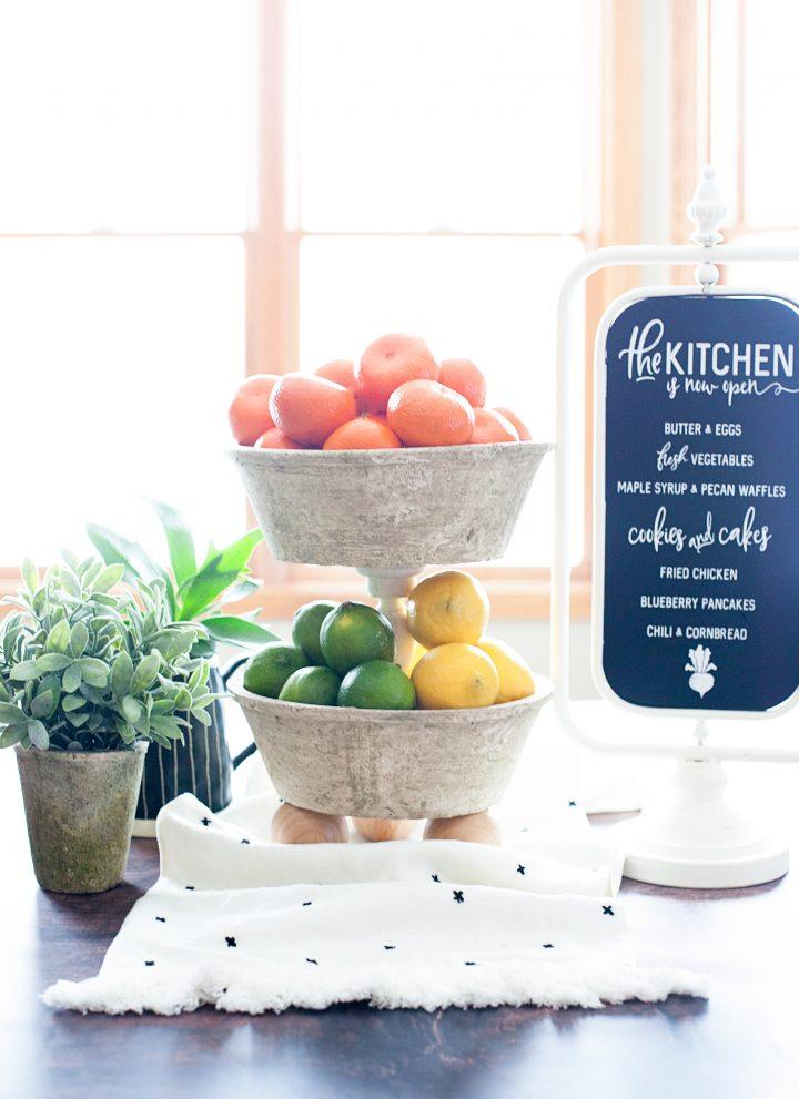 DIY Farmhouse Tiered Bowls