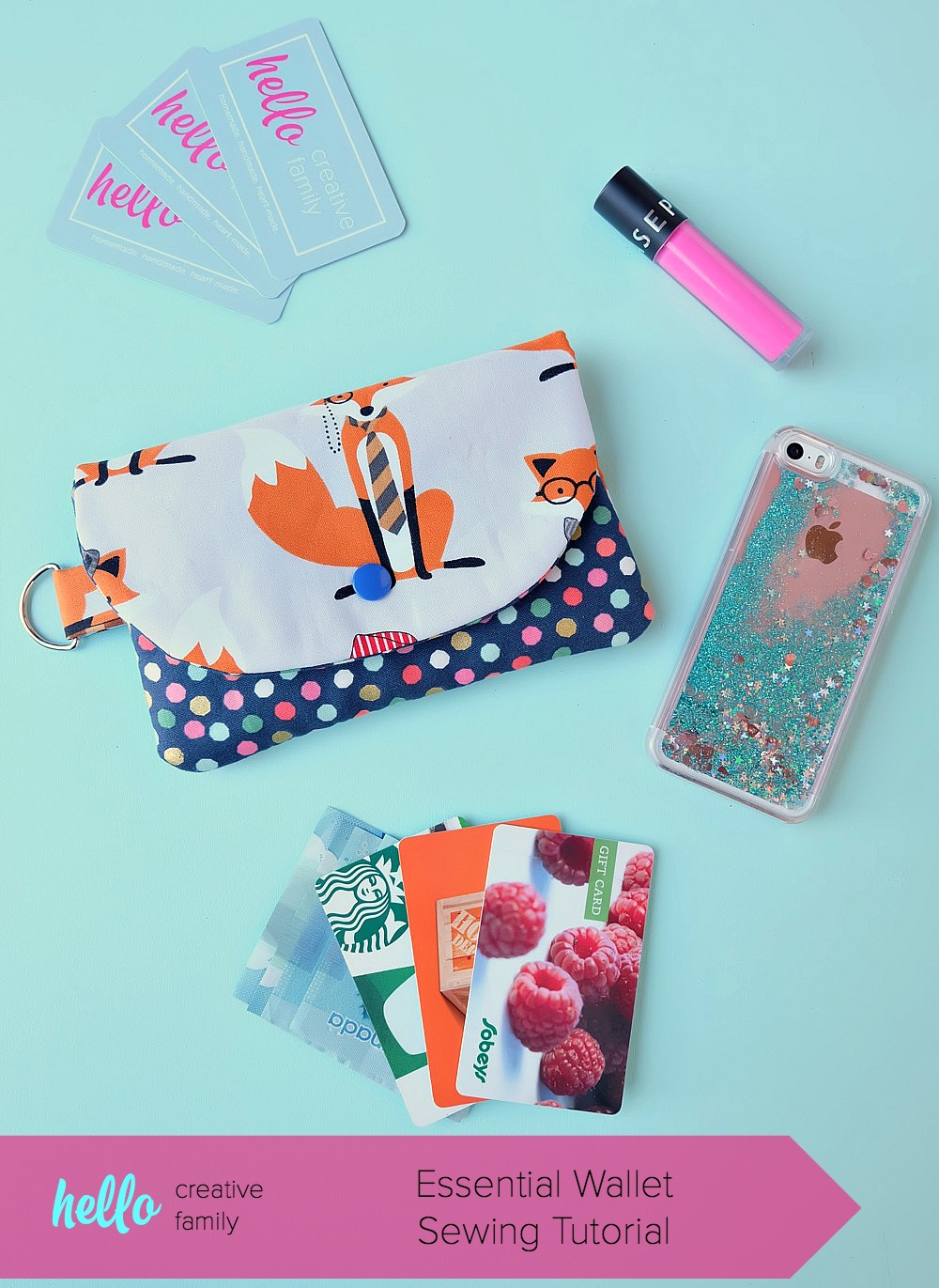 DIY Wallet created with Cricut Maker •  Hello Creative Family
