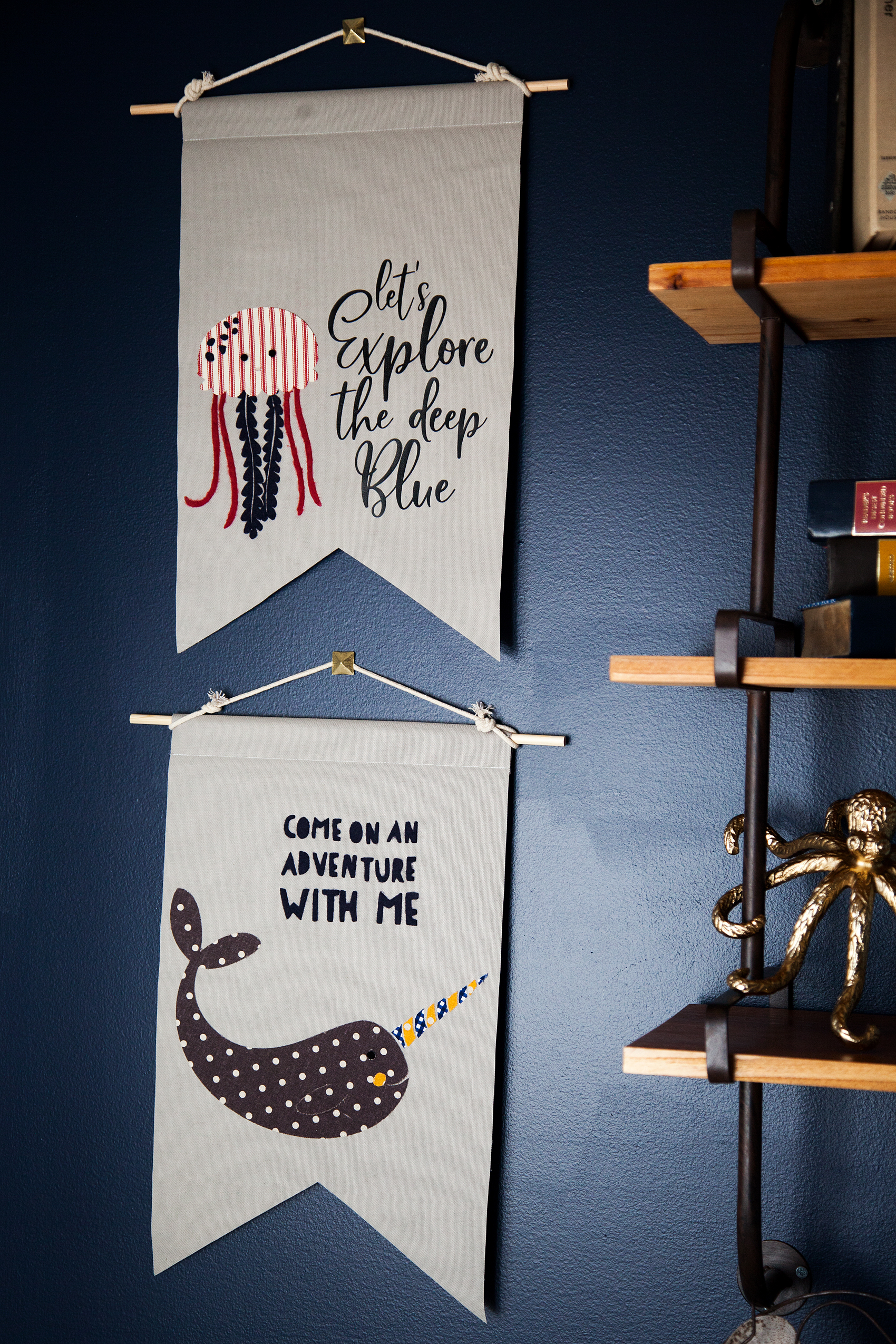 How to Create Graphic Banners with Fabric • They are easy to make with the Cricut Maker and have such impact in your room or for a party. Come learn how easy they are to make at whipperBerry.