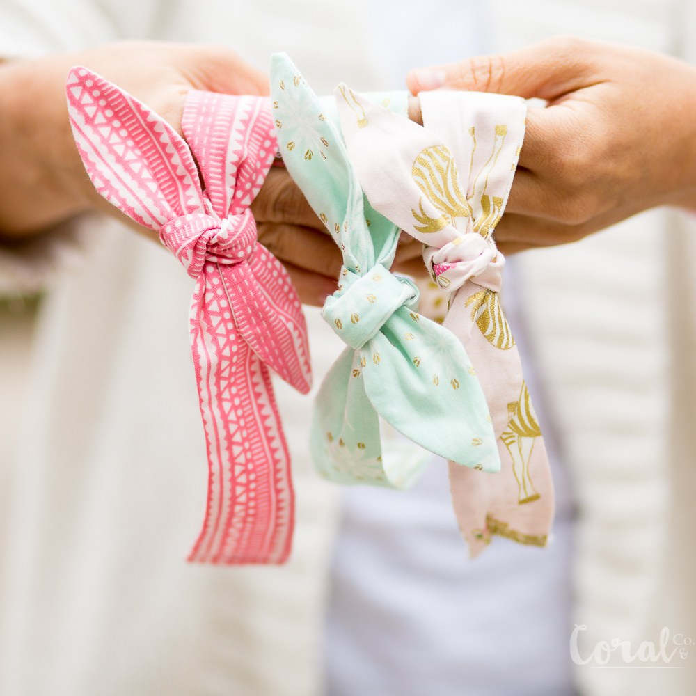 Knot Headband created with Cricut Maker • Coral + Co
