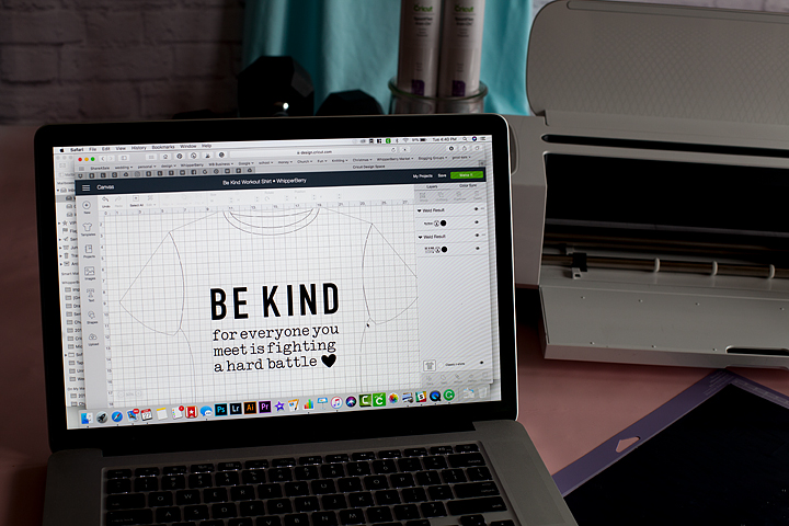 Cricut T-Shirt template in Cricut Design Space