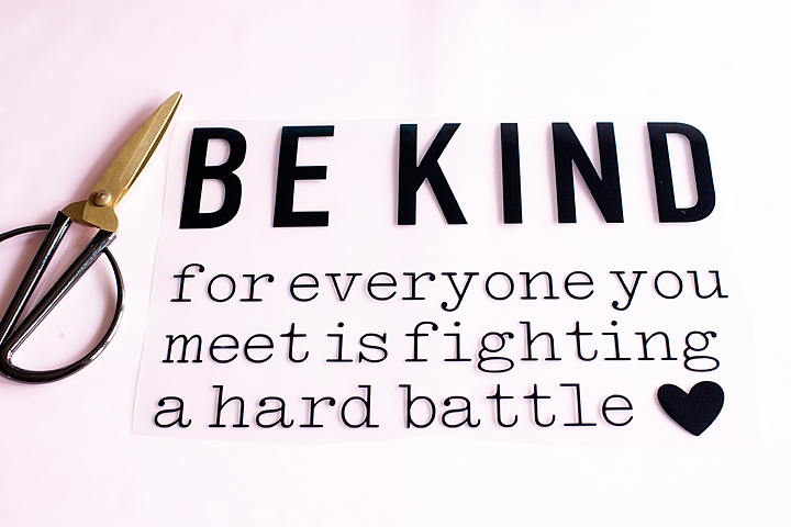 Be Kind for everyone you meet is fighting a hard battle t-shirt design