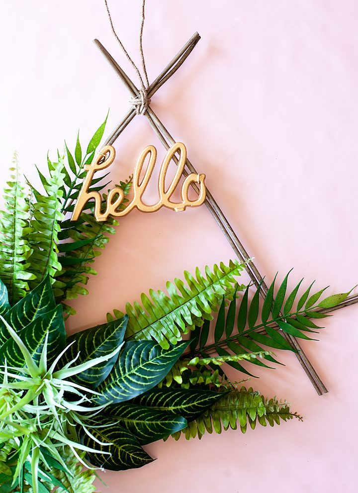 Boho Spring Wreath • Say Hello with Style