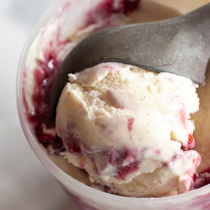EASY Homemade Mixed Berry Swirl Ice Cream Recipe • WhipperBerry