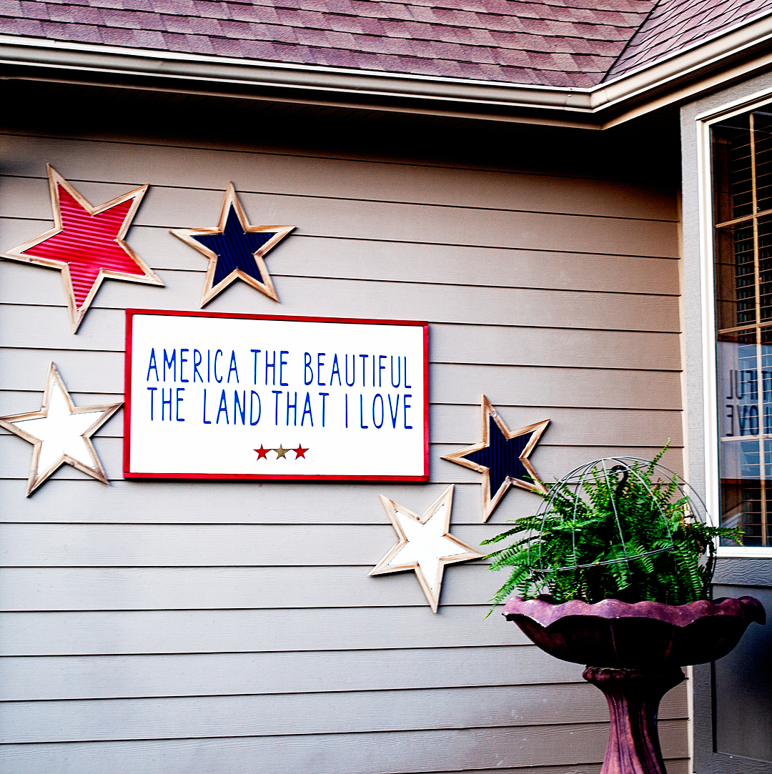 America the Beautiful Porch Sign • WhipperBerry