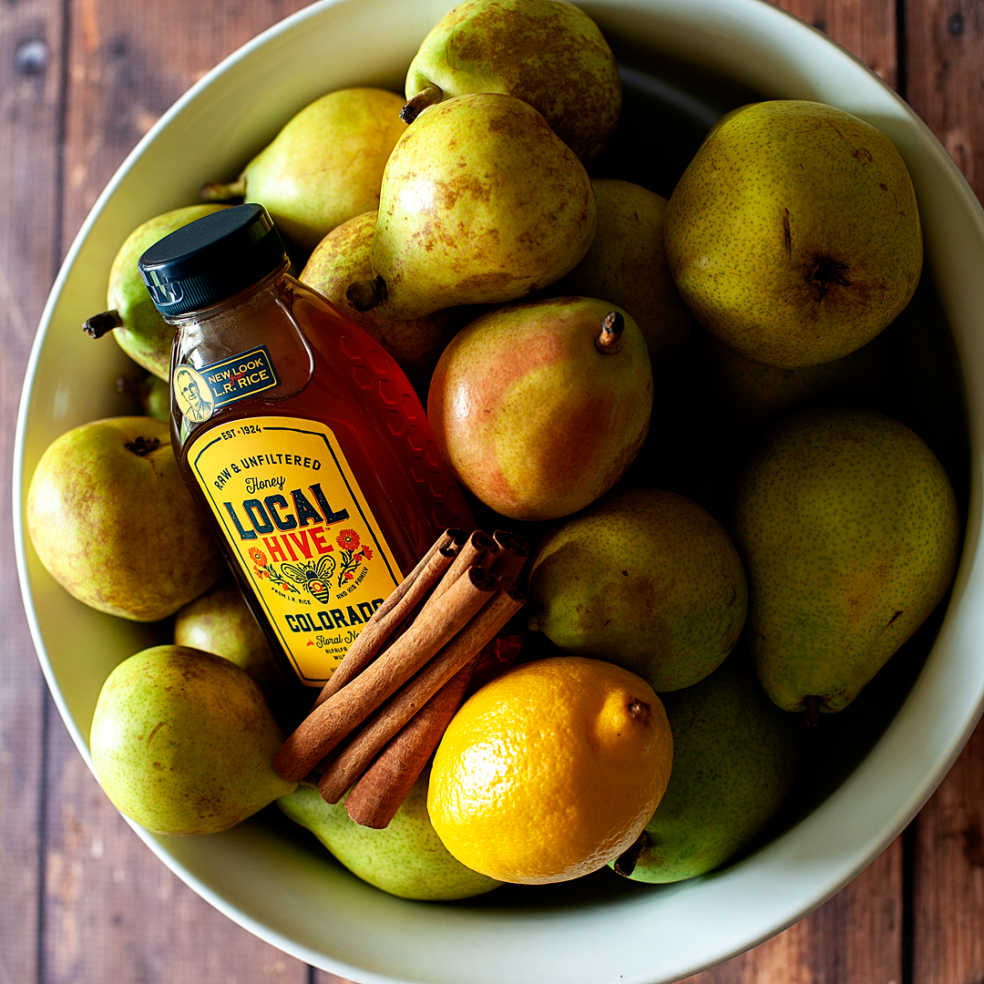 Preserve crisp fall pears with a delectable light honey syrup that highlights the pear flavor. Delicious over oatmeal, ice cream, in winter salads, topped with Ginger Cream or eaten right from the jar.
