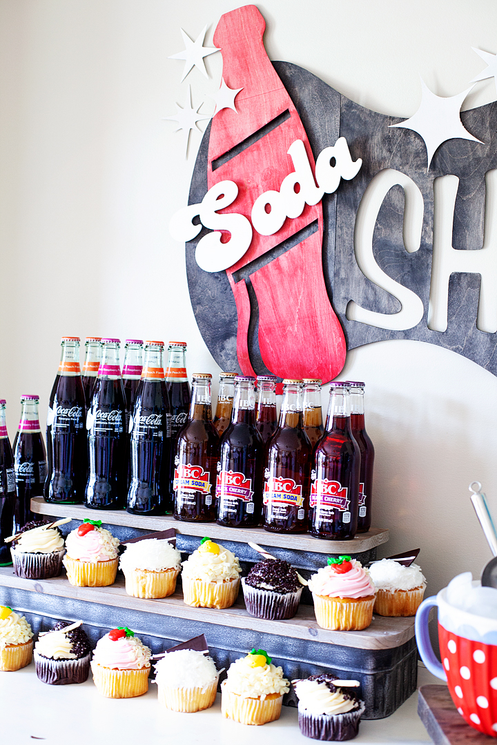 Come learn how to make this retro style soda shop sign made out of wood using the @cricut knife blade • whipperberry