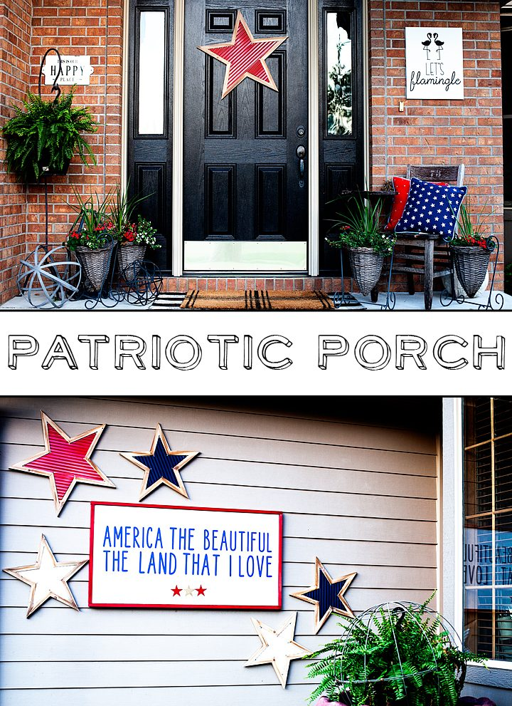 America The Beautiful Porch Sign