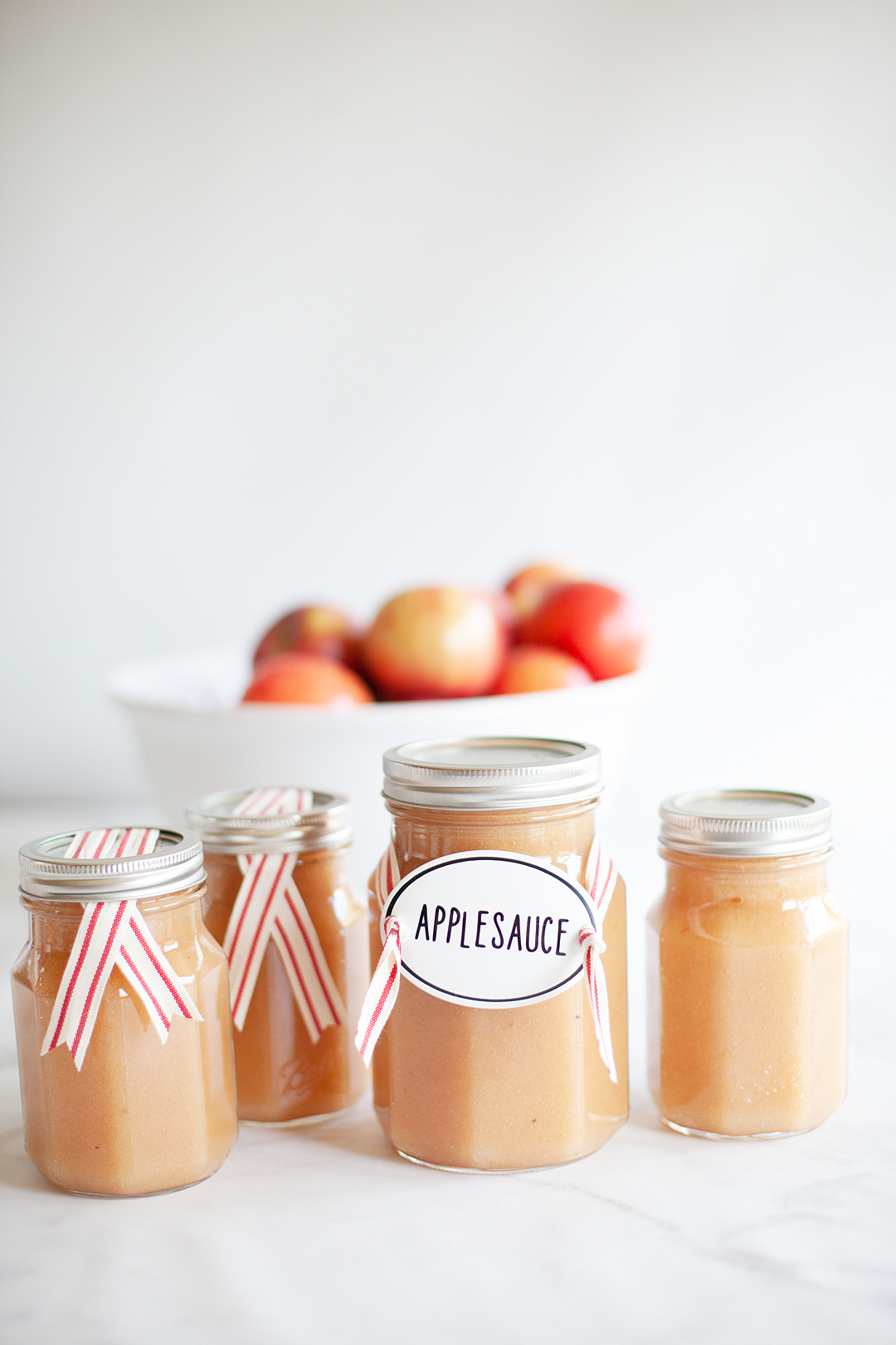 Not to knock commercially prepared applesauce, but when you have the opportunity to enjoy homemade applesauce, you will know the difference. It's sweet and tangy with the perfect texture. Not to mention the fact that it harmonizes well with many different notes on your palette AND, it's super easy to make! #applesauce #applesaucerecipe #homemadeapplesauce