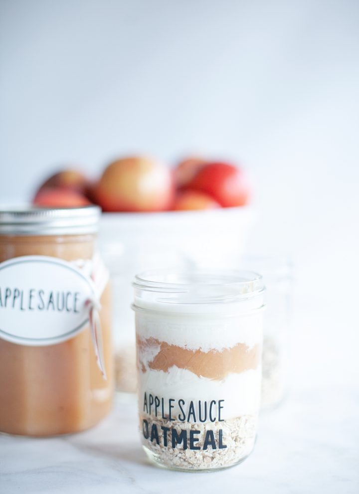 Maple Applesauce Recipe + Maple Applesauce Overnight Oatmeal Recipe