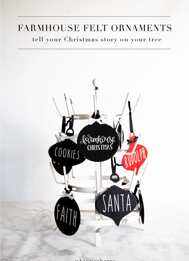 DIY Farmhouse Felt Christmas Ornaments