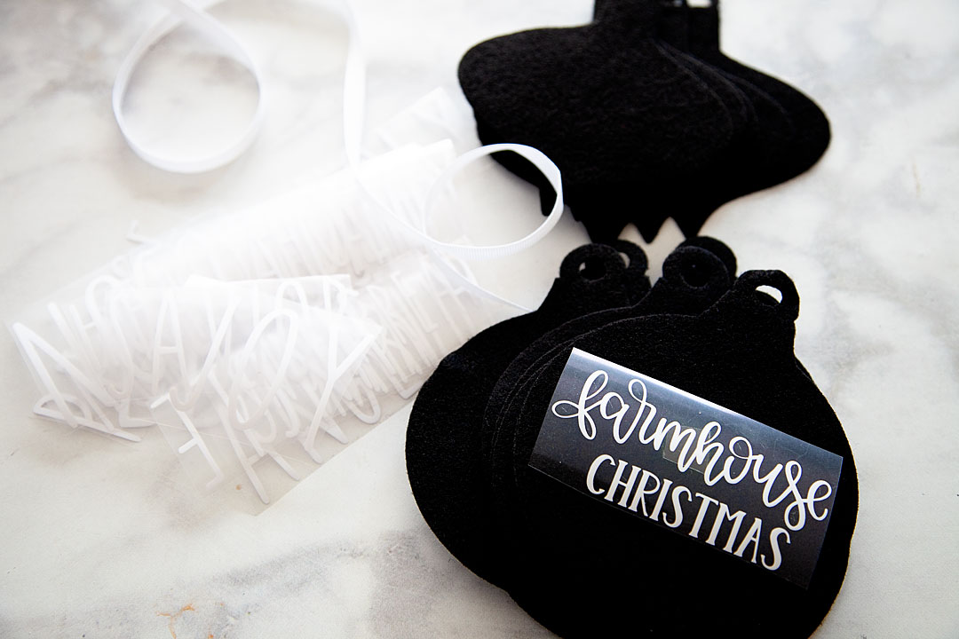 Farmhouse felt Christmas ornaments are sure to be a classic staple for years to come as you decorate for the holidays, plus they are super easy to store and won't break! I love it!! Here's how you can make a set of your own.